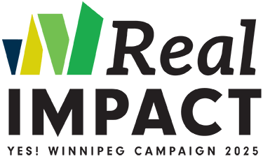 logo - Real Impact: YES! Winnipeg Campaign 2025