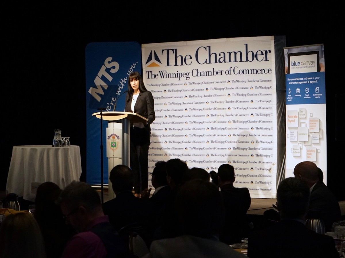 EDW to assemble experts to provide city with real time advice on emerging issues - Economic Development Winnipeg President and CEO Dayna Spiring speaks during State of the City Address
