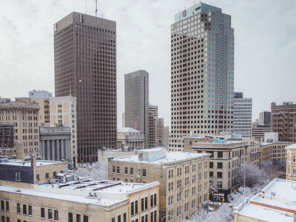 It's time to celebrate our city's success - Downtown Winnipeg taken from the historic Exchange District. Credit: Mike Peters