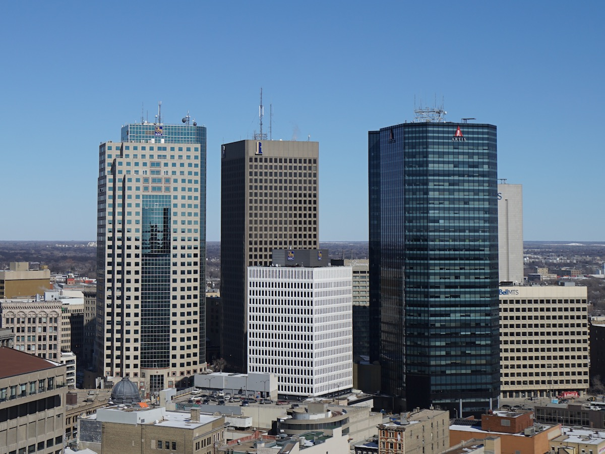 ​Winnipeg is building and we want you to be a part of it - Downtown Winnipeg is growing. This photo of Portage and Main was taken from the top of the new True North Square