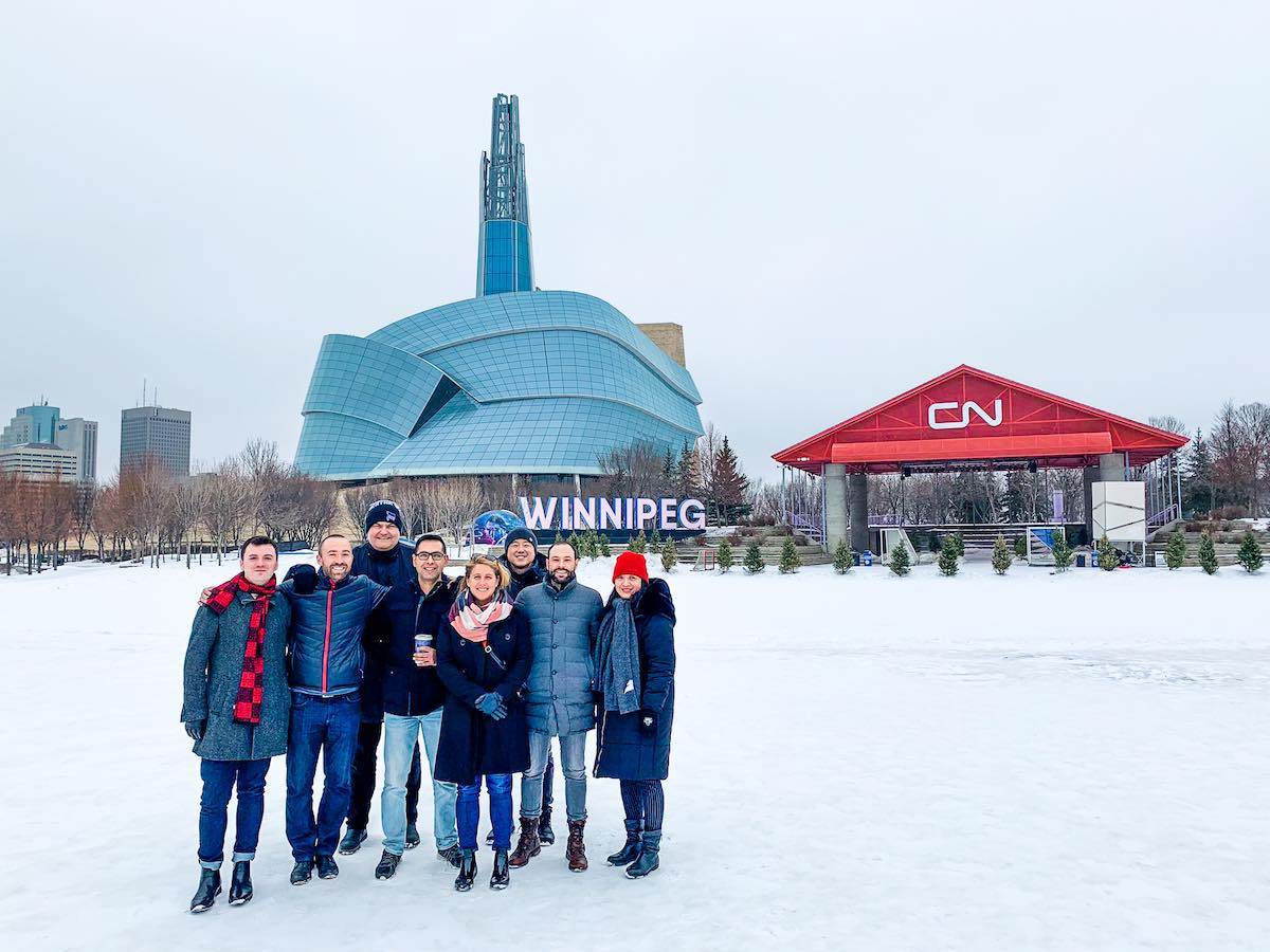 Making first impressions count   - 11 Global Affairs Canada (GAC) officers from seven different countries visited Winnipeg in March 2020. (Laurie McDougall)